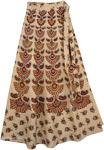 Columbian Cream Long Wrap Around Skirt