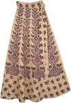 Madonna Purple Wrap Around Skirt
