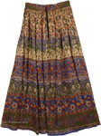 Tan Rayon Ethnic Skirt