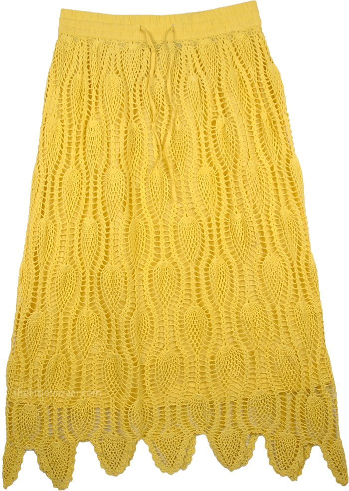 Sunny Sunny Crochet Skirt, Tulip Tree Crochet Long Skirt