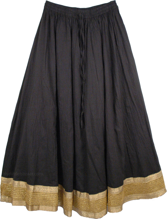 The Raja Skirt, The Deborah Border Trim Skirt
