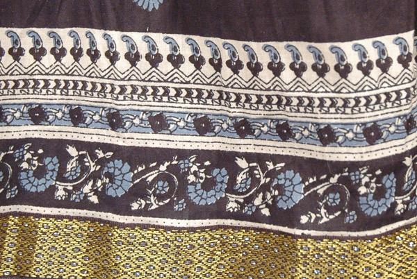 Kimberly Printed Black Cotton Skirt