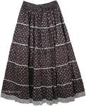 Silver Black Full Skirt [4089]