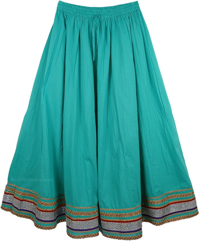 Festivity Green Skirt, Emerald Green Moroccan Skirt