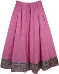 Boho Cotton Full Skirt in Radiant Orchid [4097]