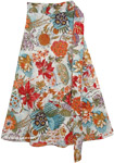 Drop Out Wrap Floral Skirt