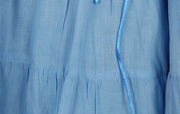 Glacier Blue Light Cotton Skirt
