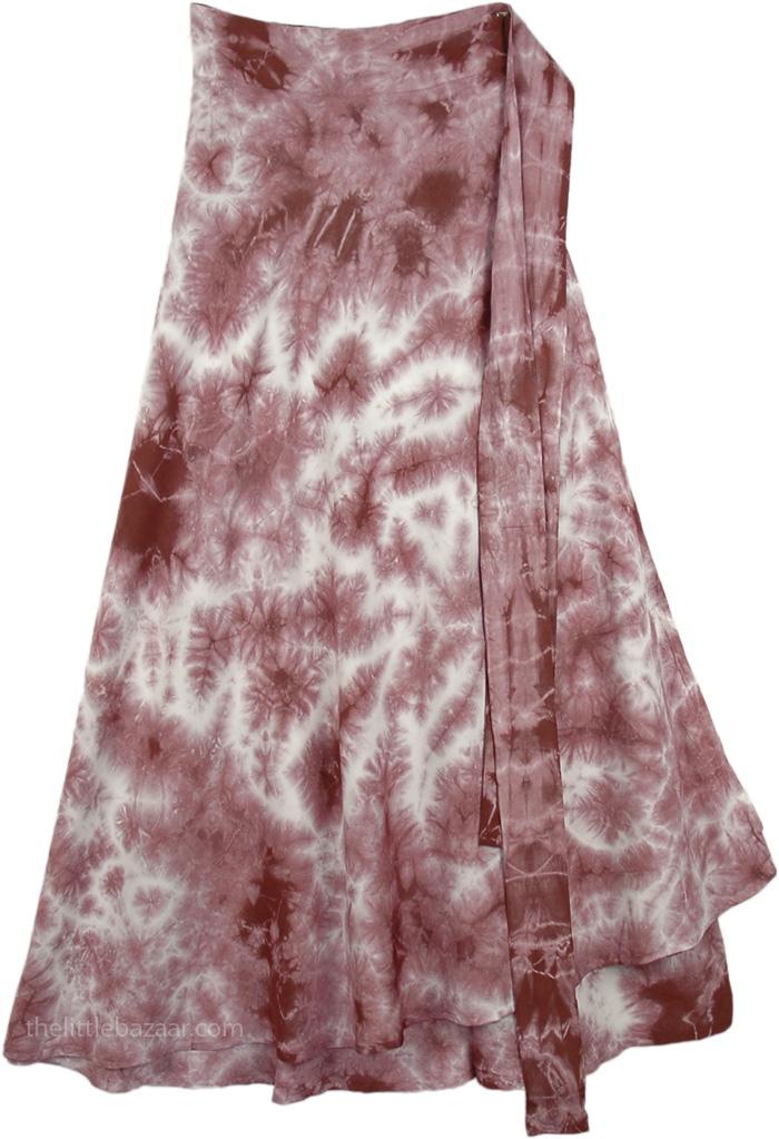 Dull Rose White Tie Dye Skirt, Au Chico Tie Dye Skirt