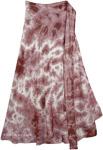 Dull Rose White Tie Dye Skirt [4109]