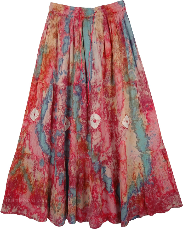 Marbled Cheery Skirt, Marble Tie Dye Swamp Skirt