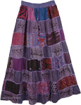 Bossanova Boho Woman Patchwork Skirt