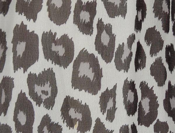 Black White Leopard Print Chiffon Long Skirt