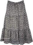 Long and Light Chiffon Skirt [4126]