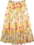 Floral Chiffon Skirt [4127]