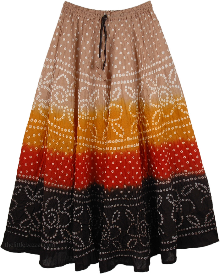 Rhapsody Dance Skirt , Firebird Tie Dye Pull-On Skirt