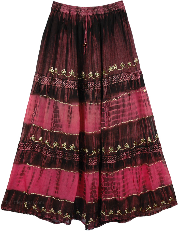 Maxi Flattering Skirt, Pink Cadillac Georgette Maxi Skirt