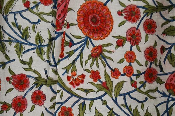 Chestnut Rose Floral Flexible Skirt