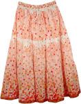 Paisley Print On White Skirt [4138]