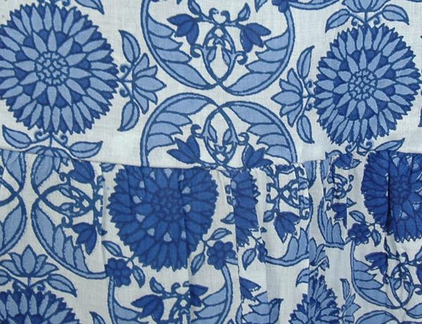 East Bay Blue Cotton Long Summer Skirt
