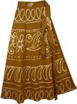 Dusty Wrap Long Indian Skirt [4143]