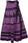 Block Printed Wrap Long Skirt [4147]