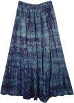 Blue Tie Dye Long Skirt [4153]