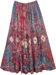 Tapestry Lotus Tie Dye Cotton Skirt