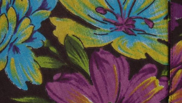 Tropical Floral Black Wrap Around Skirt