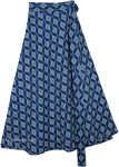 Wrap Around Skirt Casual Summer in Blue