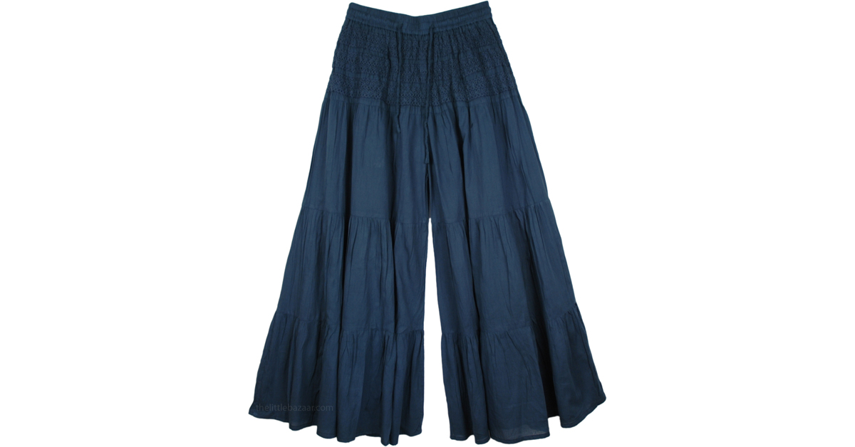 2103055f576d Sale:$14.99 Royal Blue Palazzo Divided Skirt   Clearance   Blue   Split- Skirts-Pants, Riding, Sale 14.99