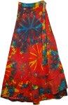 Cosmic Brilliance Tie Dye Wrap Long Skirt