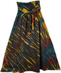 Streaked Tie Dye Hippie Skirt [4175]