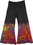 Tie Dye Colorful Black Pant [4179]