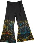 Wide Leg Bohemian Black Pants [4180]