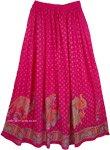 Disco Pink Indian Skirt [4188]
