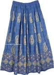 Casual Womens Indigo Skirt [4191]