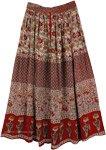 Printed Indian Long Rayon Skirt [4195]