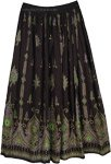 Attractive Black Indian Skirt [4196]