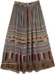 Light Ethnic Flowy Skirt [4197]