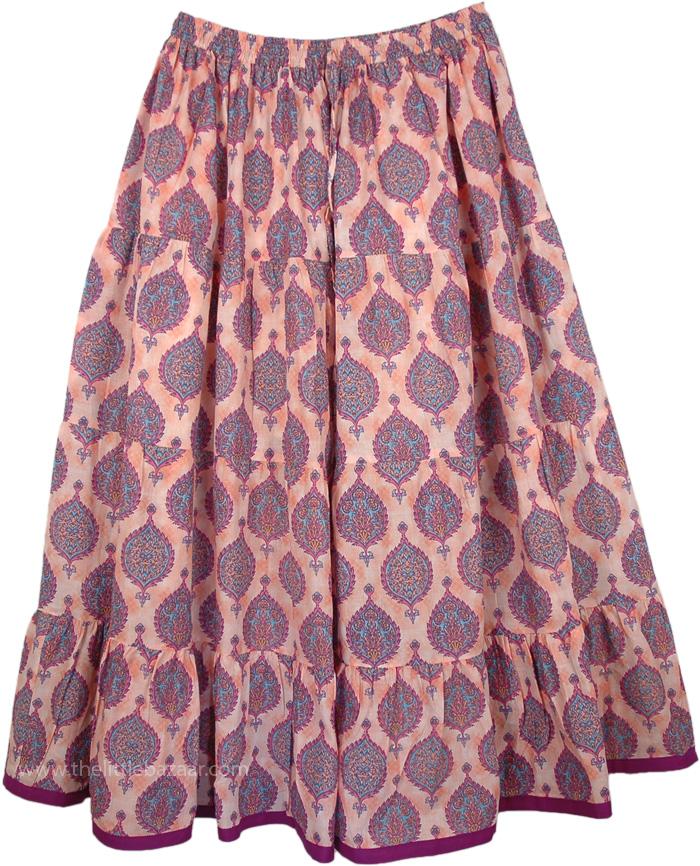 Rose Bud Full Plus Size Skirt, Her Majesty Plus Size Summer Skirt