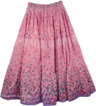 Careys Pink Easy Wear Long Skirt