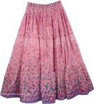 Careys Pink Easy Wear Long Skirt