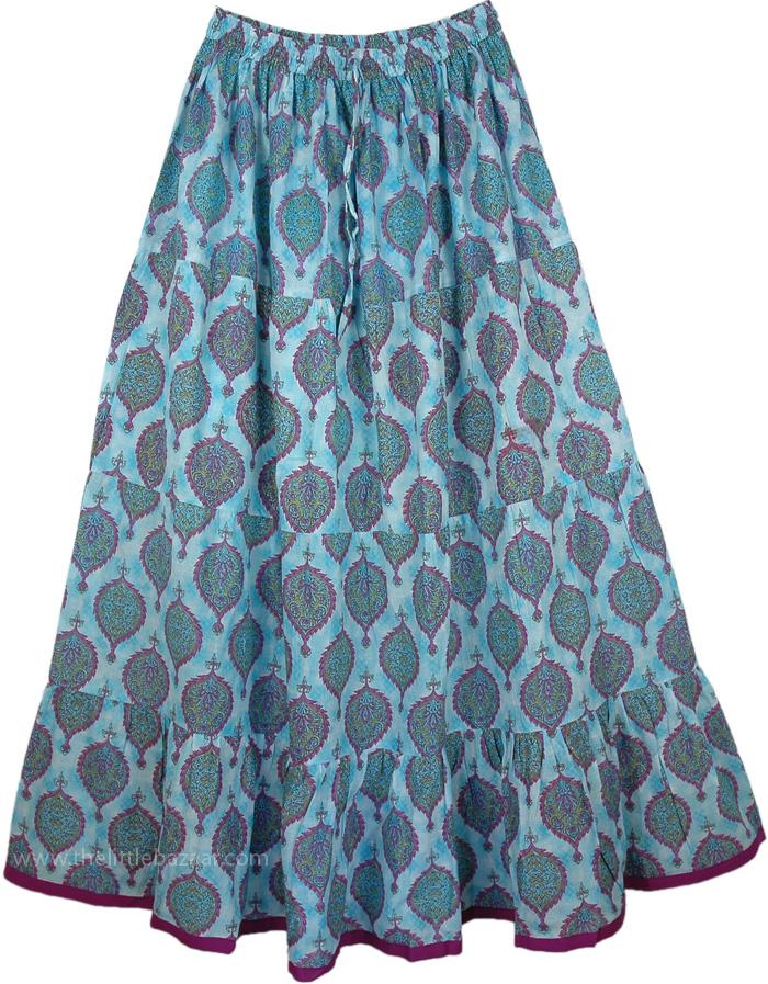Glacier Blue Cool Summer Full Skirt, Shakespeare Midnight Summer Dream Skirt