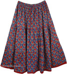 East Bay Plus Size Summer Printed Skirt