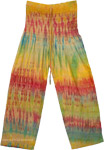 Smocked Waist Tie Dye Summer Trouser