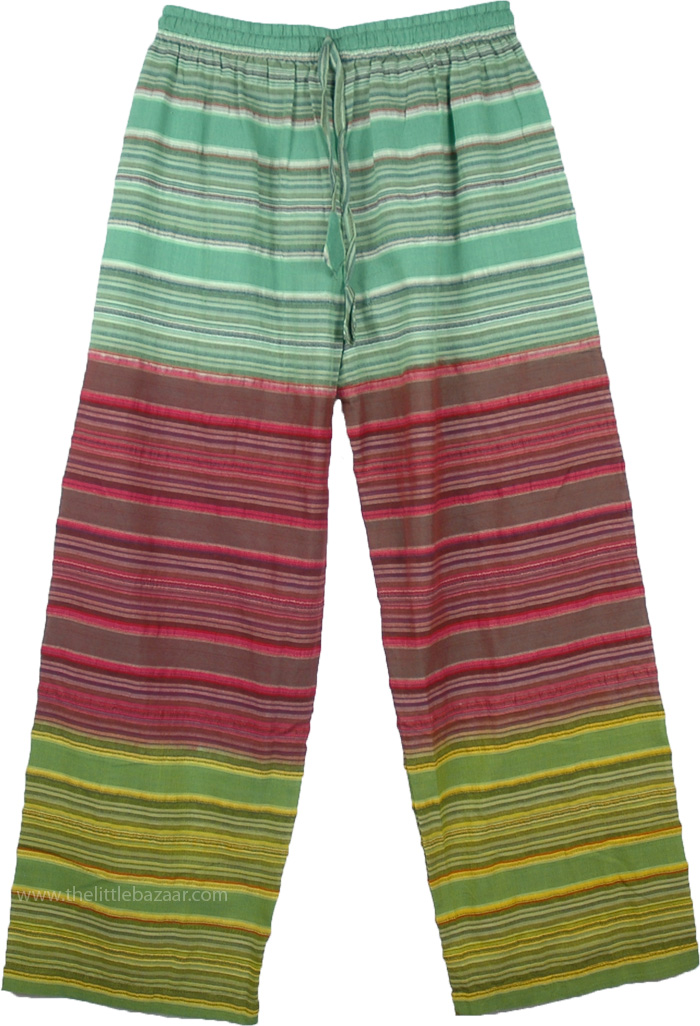 Cotton Pajama Pants in 3 Colors, Seersucker Cotton Boho Pajama Pants