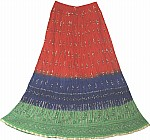 Crinkle Long Skirt Bohemian Chic