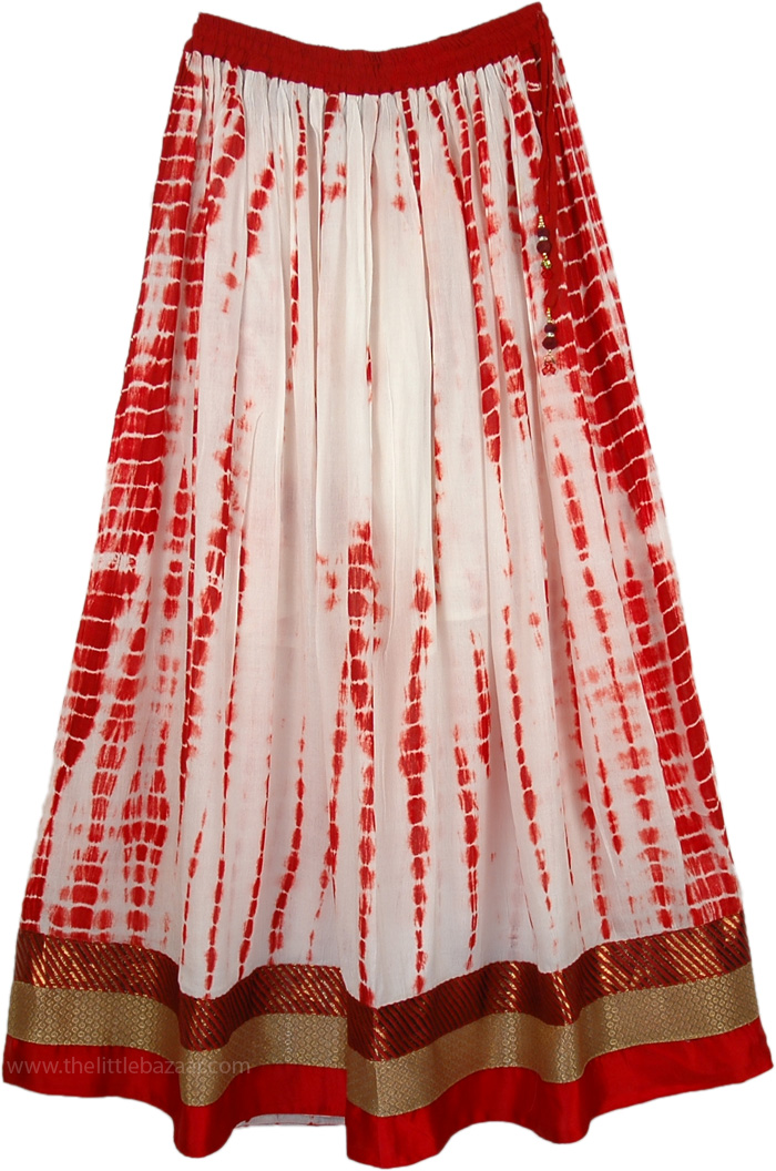 Fancy Skirt from Bengal, Monarch Traditional Festive Long Skirt