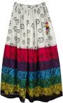 Bohemian Floral Cotton Summer Tall Skirt