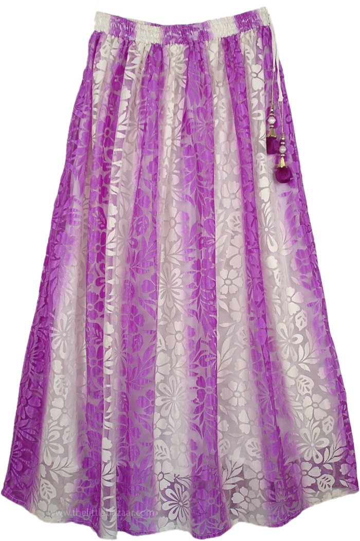 Violet Summer Long Skirt, Wisteria Lace Long Skirt